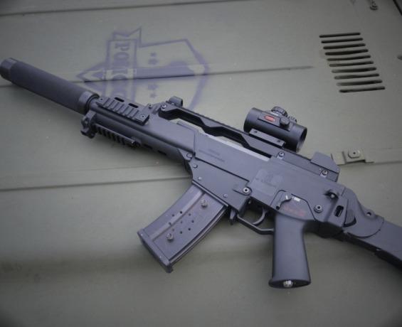 Lāzertaga ierocis G36